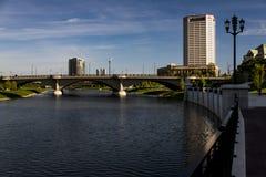 Río y Columbus céntrica, Ohio de Scioto Fotografía de archivo