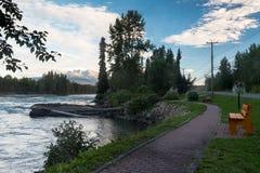 Río y Eddy Park de Bulkley Fotografía de archivo libre de regalías