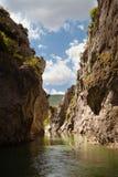Río y garganta de Lumbier en Navarra Fotos de archivo