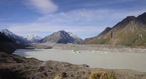 Río y lago Tasman, Nueva Zelanda del glaciar de Tasman Imagenes de archivo