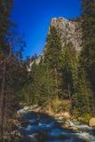 Río y montaña de mármol de Kaweah de la bifurcación Fotos de archivo