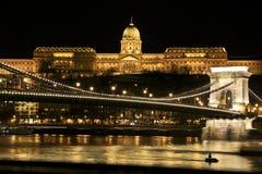 Río y puente, Hungría de Budapeste Imagen de archivo libre de regalías