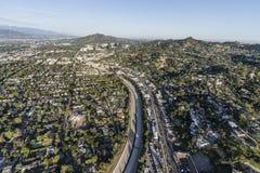Río y Ventura Blvd Aerial de Los Ángeles foto de archivo