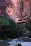 Río y Zion de la Virgen Imagen de archivo