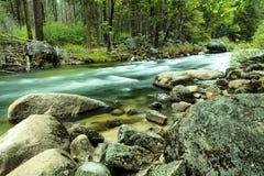 Río Yosemite de Merced Foto de archivo libre de regalías