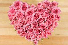 różę kształt miłości Obrazy Royalty Free