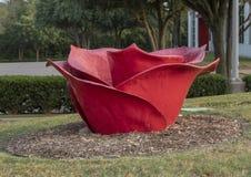` róż Smołowcowy ` Dennis Oppenheim, Hall park, Frisco, Teksas fotografia stock