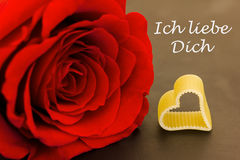 Róża i serce obrazy stock