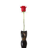 różana czerwieni waza Zdjęcia Stock