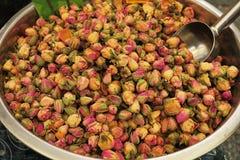 Różana płatek mikstura dla ziołowej herbaty Zdjęcie Stock