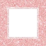 Różana złocista błyskotliwość kwadrata rama wektor Zdjęcie Stock