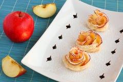 Różani jabłczani ciastka Zdjęcie Royalty Free
