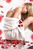 Różani płatki Fotografia Stock