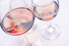 Różani win szkła Obraz Royalty Free