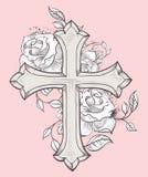 Różany Croix royalty ilustracja