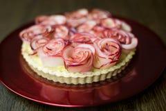 Różany Jabłczany tarta Obraz Stock