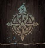 różany kompasu rocznik Zdjęcie Royalty Free