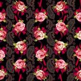 Różany kwiatu wzór, Obraz Stock