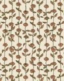 Różany kwiatu wzoru tło w Retro Stylowym Ilustracyjnym wektorze Zdjęcie Royalty Free