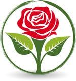 Różany logo Obraz Royalty Free