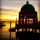 różany nabrzeże wschód słońca Boston Ma Zdjęcia Royalty Free
