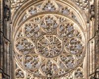 Różany okno przy katedrą święty Vitus Obraz Royalty Free