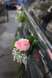 różany samochodu ślub Zdjęcie Royalty Free