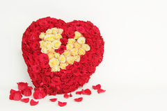 Różany serce obrazy stock