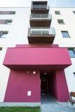 Różany wejście budynek mieszkaniowy Zdjęcie Stock