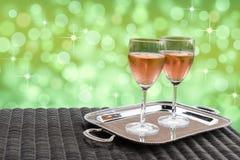Różany wino zdjęcie stock