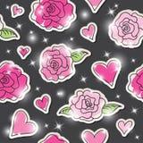 Róże bezszwowy wzór ilustracji