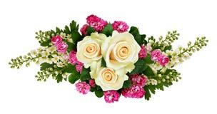 Róże, czeremchowi drzewo kwiaty i głogowy kwiatu przygotowania, Zdjęcia Royalty Free