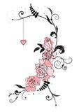 Róże i serce Zdjęcia Royalty Free