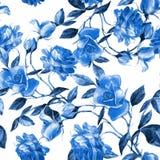 Róże malować w akwareli obrazy royalty free