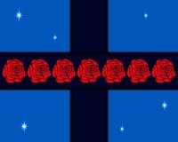 Róże na krzyżu Fotografia Royalty Free