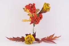 Róże od jesień liści Obraz Royalty Free