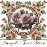 Róże. Piękna rama z kwiatu ornamentem. Obraz Royalty Free