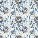 róże Ręka rysujący kwiecisty wzór Zdjęcie Stock