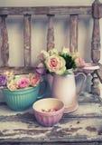 Róże w okręgu administracyjnego stylu Zdjęcia Royalty Free