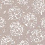róże wektor bezszwowy wzoru royalty ilustracja