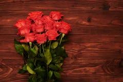 Róże z pustym copyspace na dobrze Zdjęcia Stock