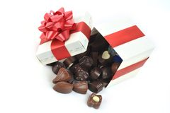 różna pudełkowata czekolada zdjęcia stock