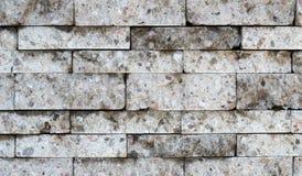 Różna wielkościowa bielu marmuru cegieł tekstura Obrazy Stock