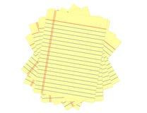 Różne żółte strony. obrazy royalty free