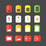 Różne accumulator statusu ikony Zdjęcie Stock