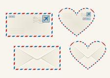 Różne airmail koperty royalty ilustracja