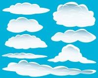 różne chmury royalty ilustracja