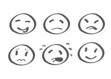 różne emocje royalty ilustracja