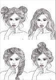 Różne fryzury dla każdego dnia ilustracji