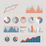 Różne graficzne biznesowe oceny i mapy ilustracja wektor